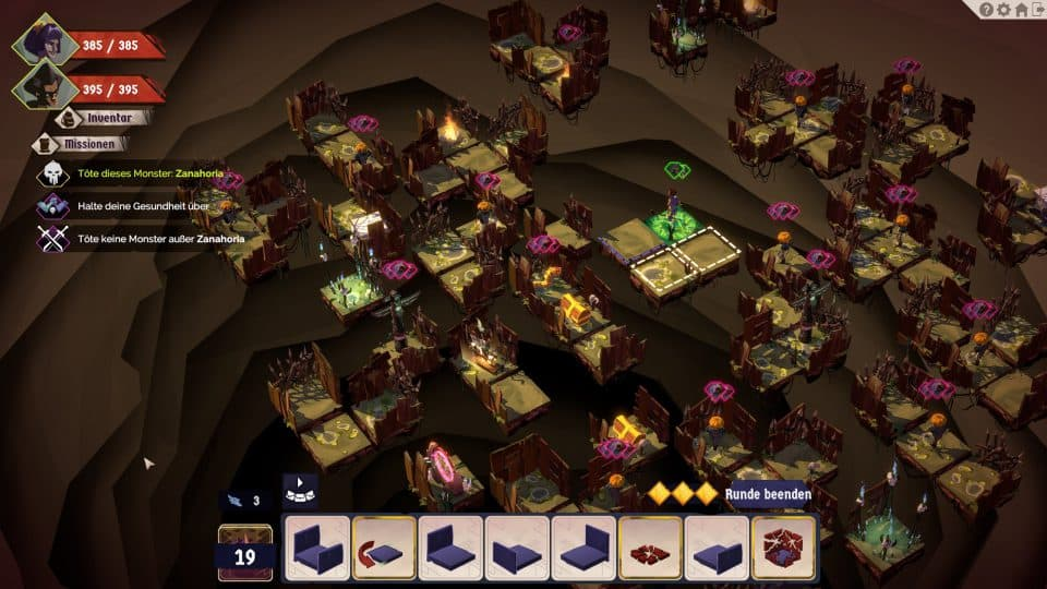 A Long Way Down Game Review / Test - Turn-based Strategy Dungeon with Cards | Games Blog