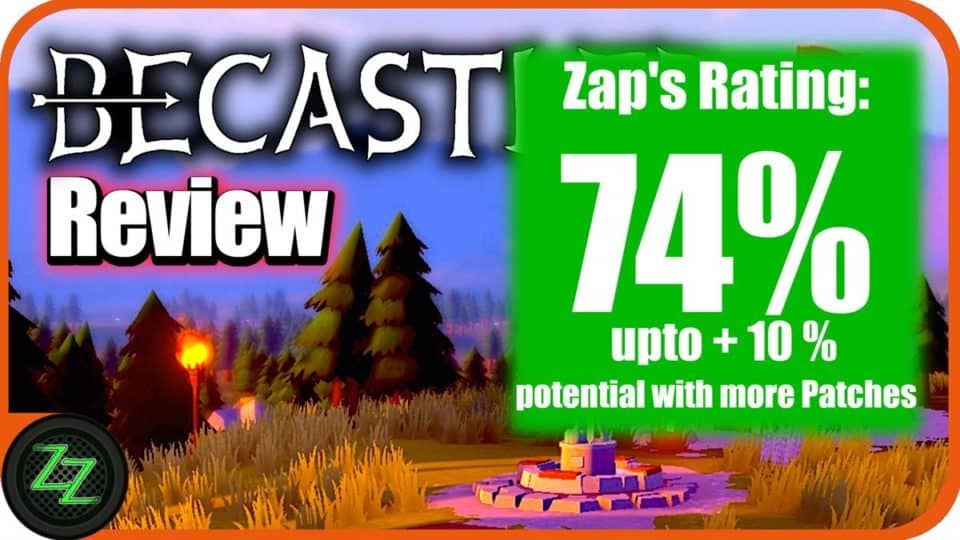 Becastled Review Rating with numbers 74 percent