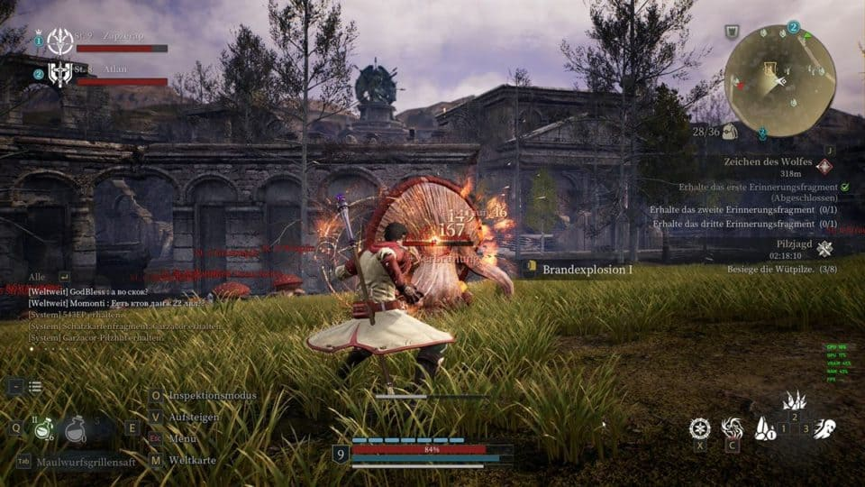 Bless Unleashed Review (Deutsch) Asia Story MMORPG mit Action Combat im Test - Giant Mushrooms - Riesen Pilze