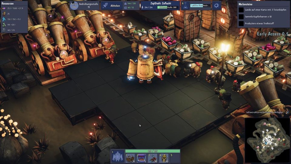 Dream Engines Nomad Cities Review - Factorio-like Alptraum Aufbau & RTS Mix im Test Tiny amid the small people - Tiny inmitten der kleinen Menschen