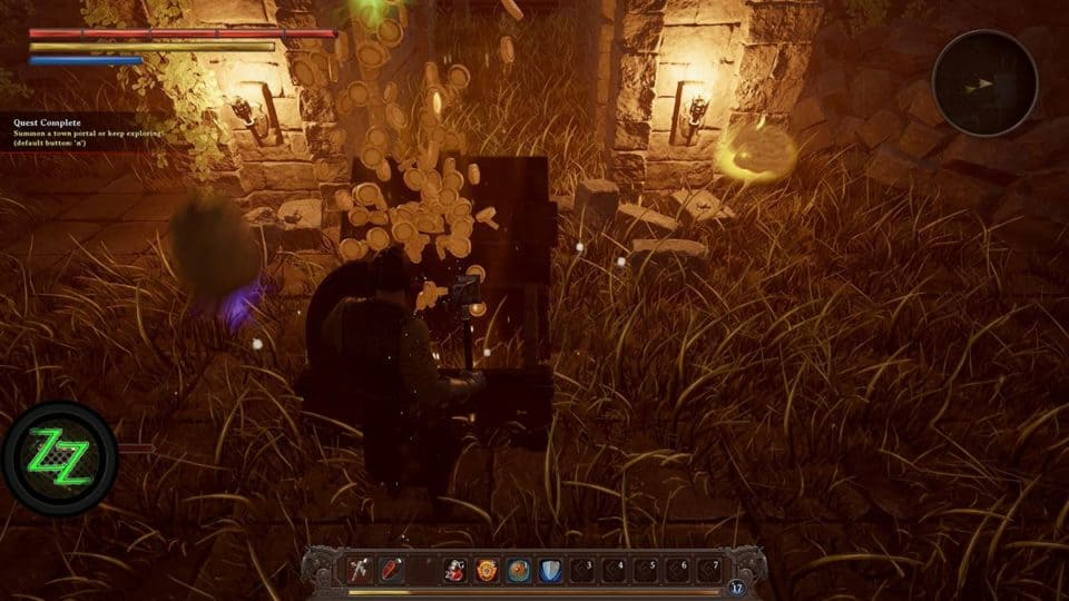 Dungeons Of Edera Test - Review - 3D roguelike Indie Dungeon-Crawler RPG Lots of Gold and Loot in the Dungeon End Chest