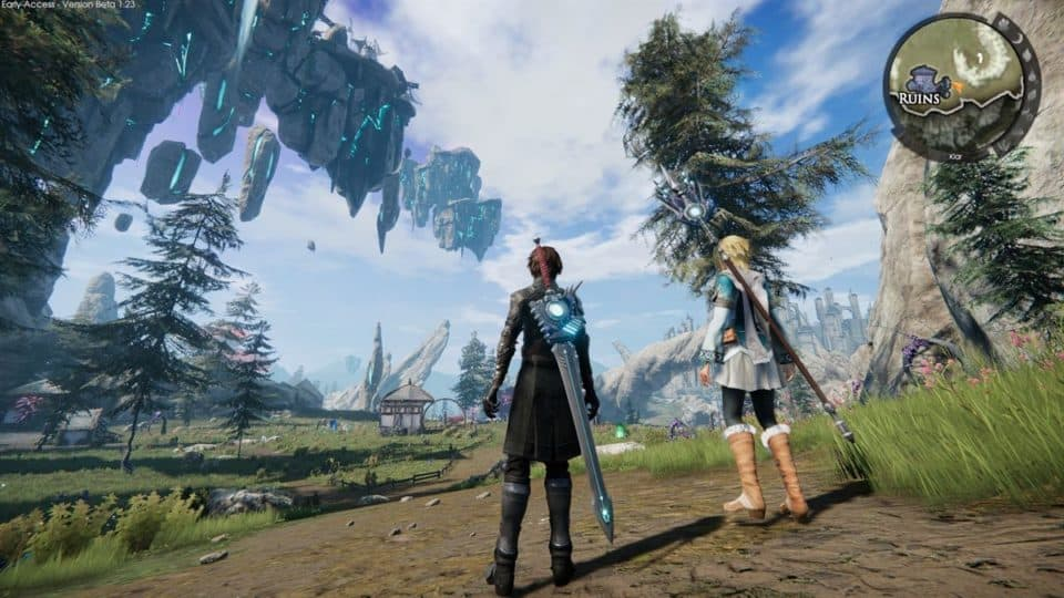 Edge Of Eternity Review - Test - Indie JRPG in Final Fantasy Style - City in the sky