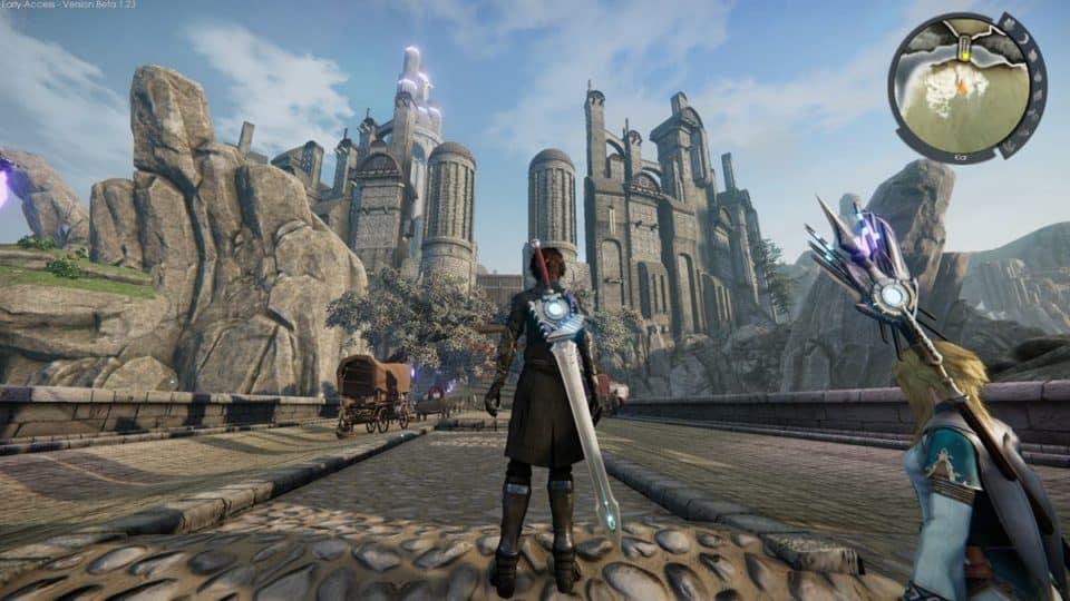Edge Of Eternity Review - Test - Indie JRPG in Final Fantasy Style - City walls