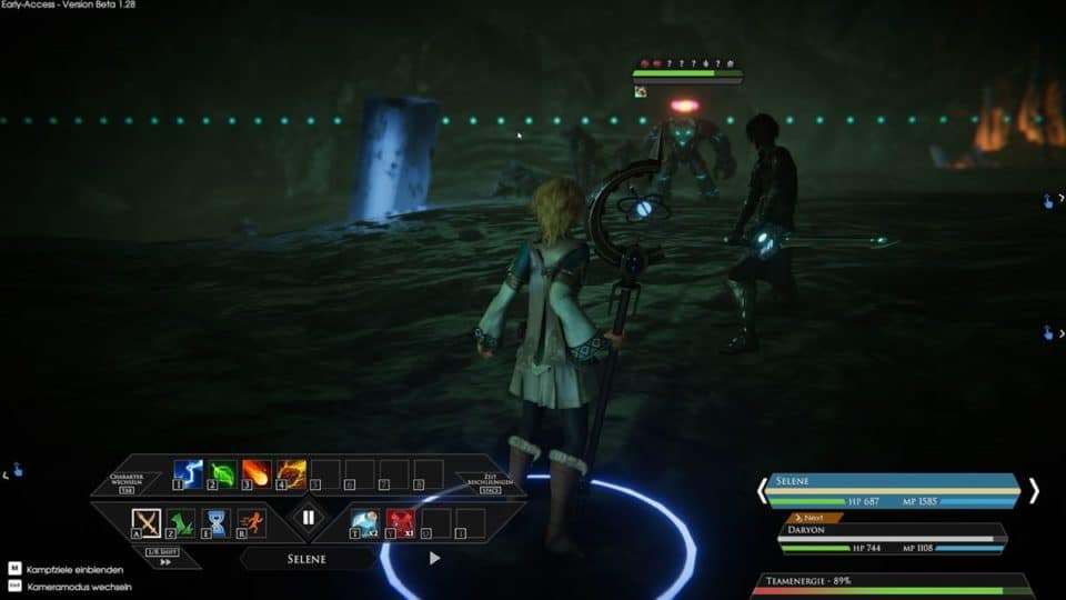 Edge Of Eternity Review - Test - Indie JRPG in Final Fantasy Style - Fight in cave