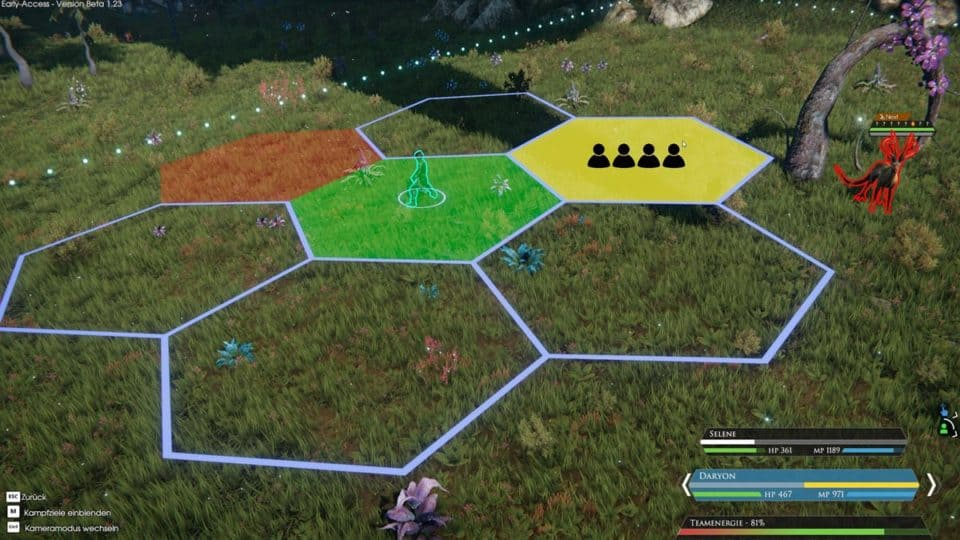 Edge Of Eternity Review - Test - Indie JRPG in Final Fantasy Style - Hex fields on the battle field