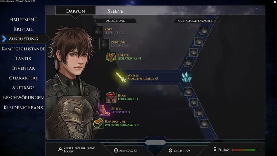 Edge Of Eternity Review - Test - Indie JRPG in Final Fantasy Style - Inventory