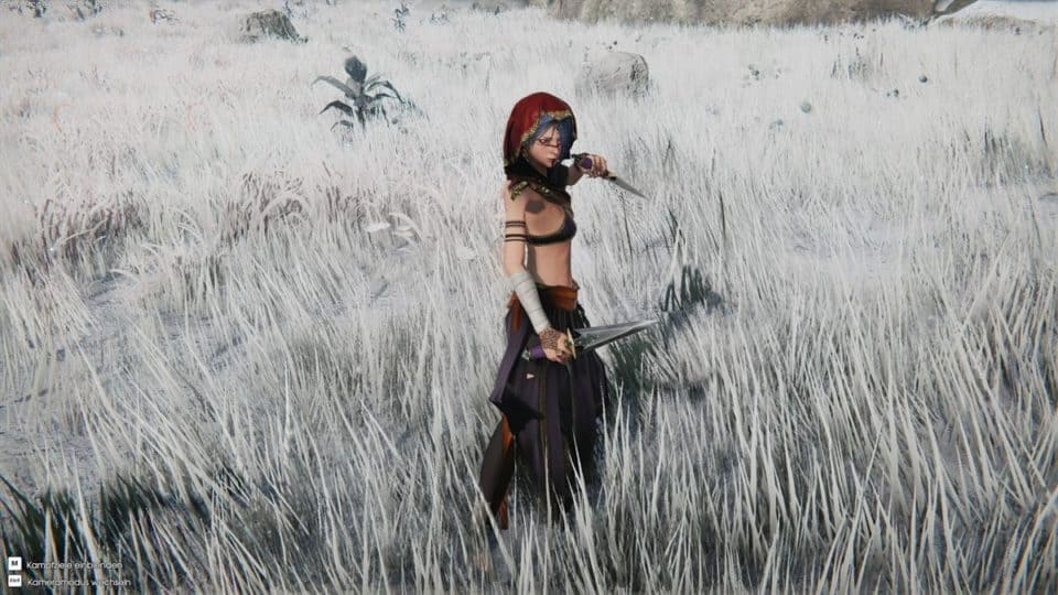 Edge Of Eternity Review - Test - Indie JRPG in Final Fantasy Style - Myrna in the snow