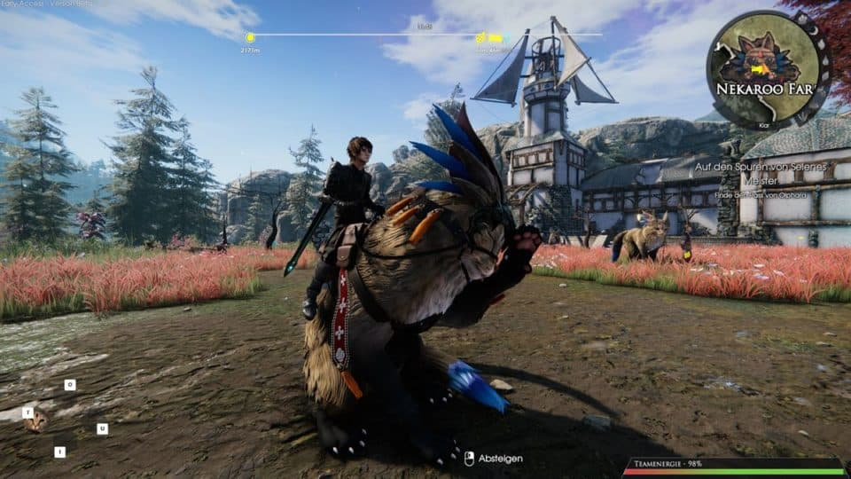 Edge Of Eternity Review - Test - Indie JRPG in Final Fantasy Style - Your own cat mount