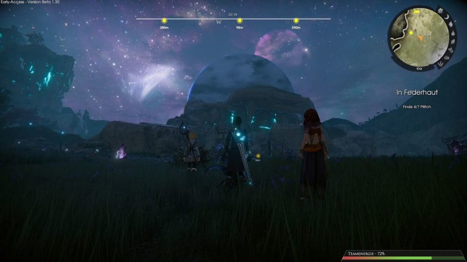 Edge Of Eternity Review - Test - Indie JRPG in Final Fantasy Style - amazing sky at night