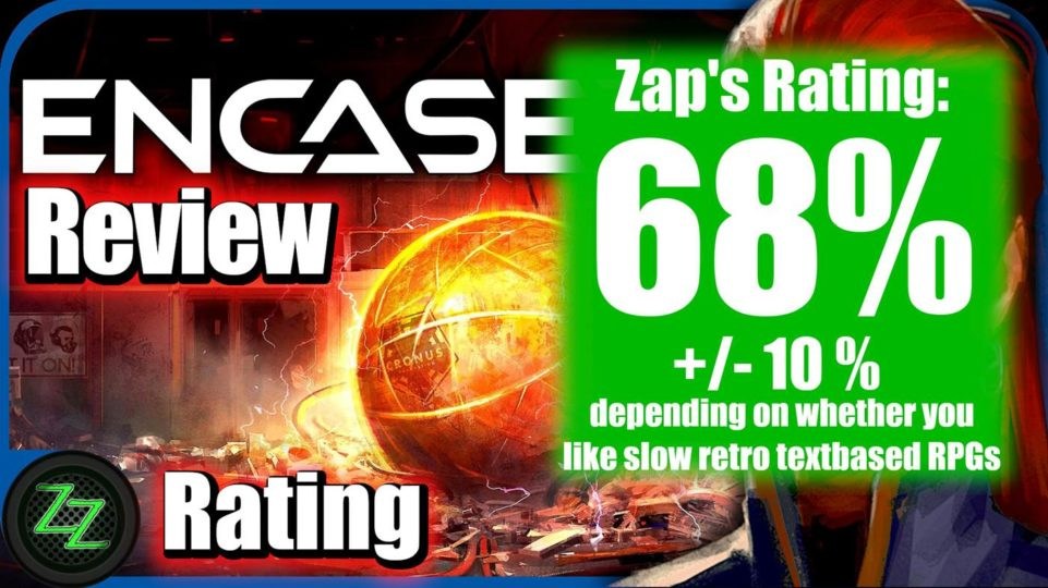 Encased Review Rating and Scoring with numbers - 68 percent