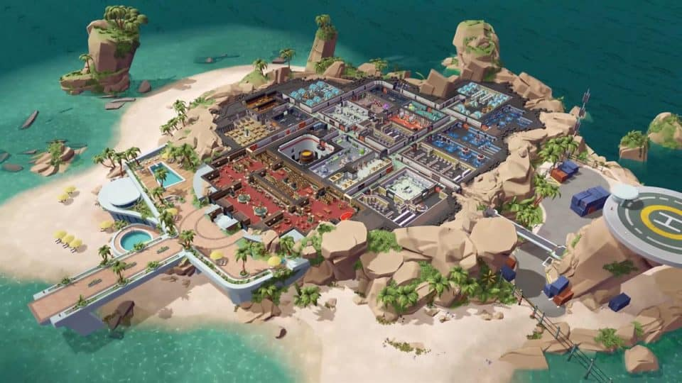 Evil Genius 2 2021 Remake - Release Date, Info, Trailer, Screenshots - Island Overview and the hidden base inside the mountain