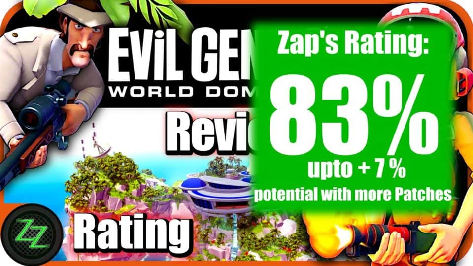 Evil Genius 2 Review  Rating with numbers - 83 percent
