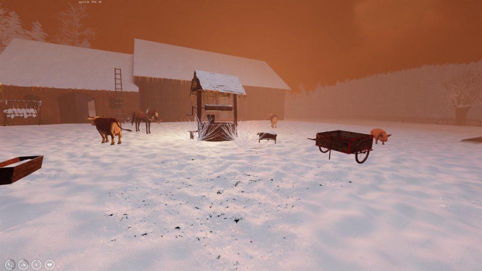 Farmers Life Review - dreckige Survival Bauernhof Sim im Test - Snow and Ice on the farm - Schnee und Eis auf dem Bauernhof