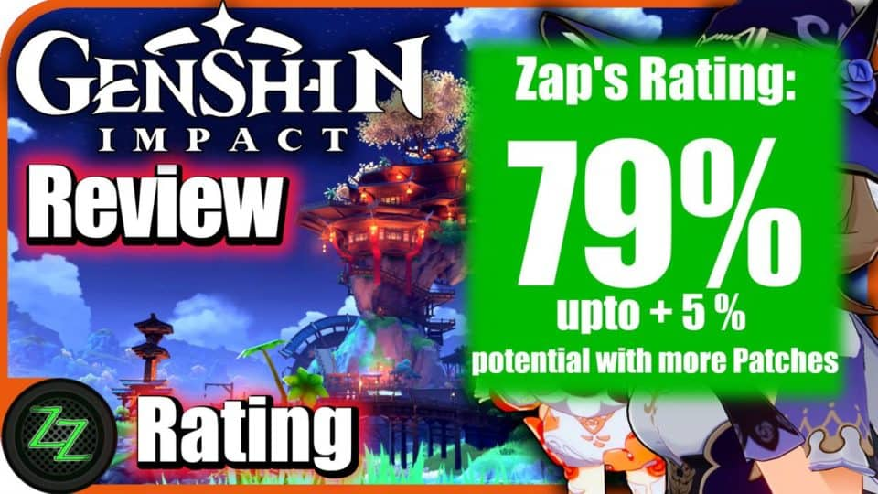 Genshin Impact Review - Test Rating with Numbers 79 percent