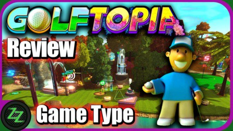 Golftopia Review-Test - SciFi Golfer in bunt - SimGolf or SimTycoon 01 Game Type - Spieltyp