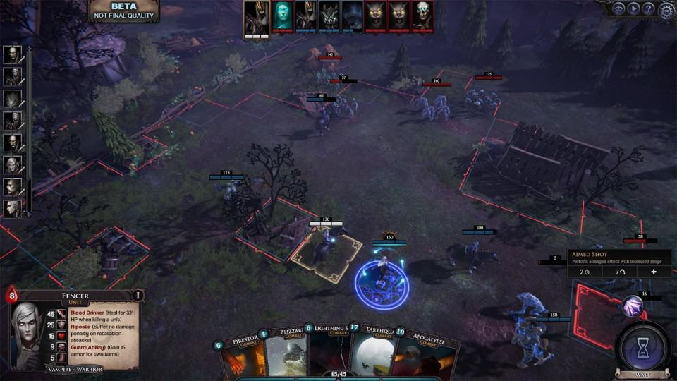 Immortail Realms Vampire Wars Review -Combat Map