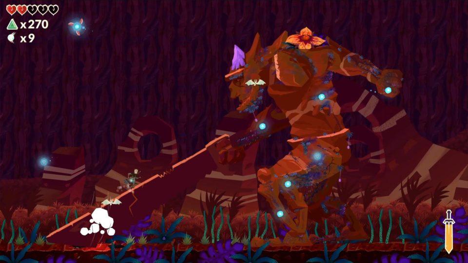 Leifs Adventure Netherworld Hero - Gamescom21 Short News - Zapzockt.de Gaming News - climbing on the boss - auf den Boss raufklettern