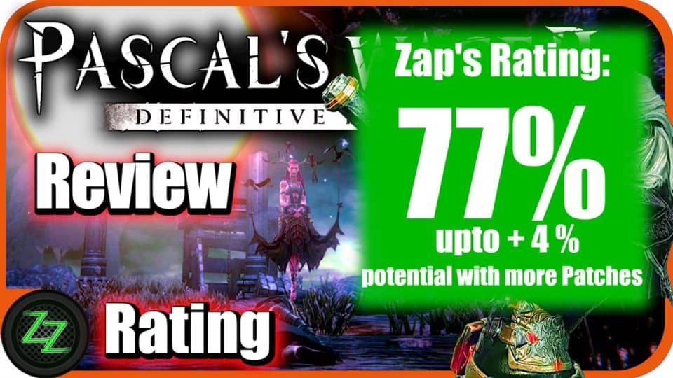 Pascal's Wager Definitive Edition - Review Rating with numbers - 77 percent