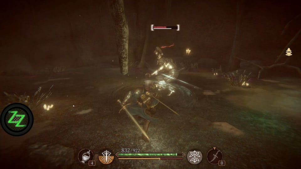 Pascal's Wager Definitive Edition - Review - Soulslike RPG im Test - in Fight wiht undead Knight - Im Kampf mit einem untoten Ritter