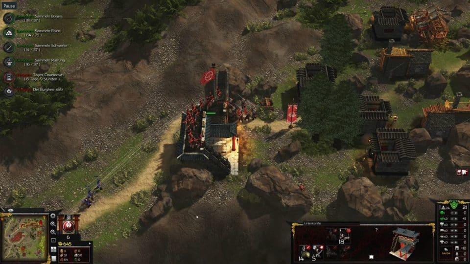 Stronghold Warlords Review -Test- Echtzeit Strategie im alten Asien - Building a Fortress - Festungen bauen