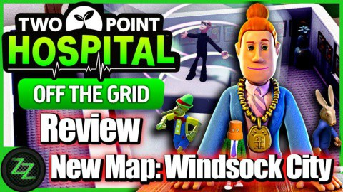 Two Point Hospital Off the Grid DLC Review New Map 3 - Windsock City