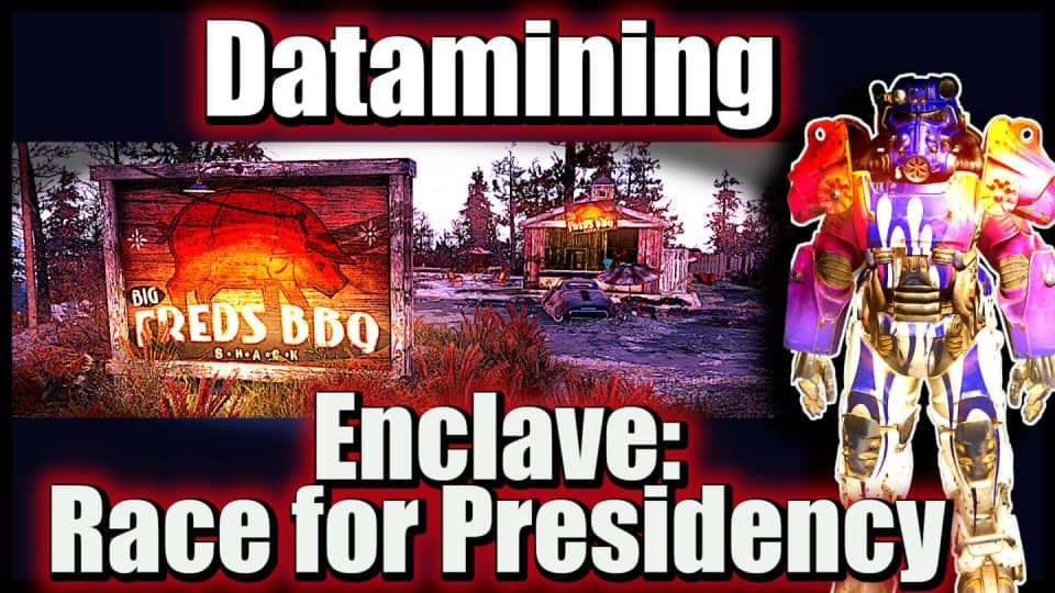 Fallout 76 Infos (Deutsch) Free2play, Support & Datamining [F76 News Flash 13] 04 Datamining - Enclave - Race for Presidency