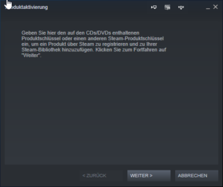 Explanation Redeem Steam Key - Activate a game with Steam - Product activation window