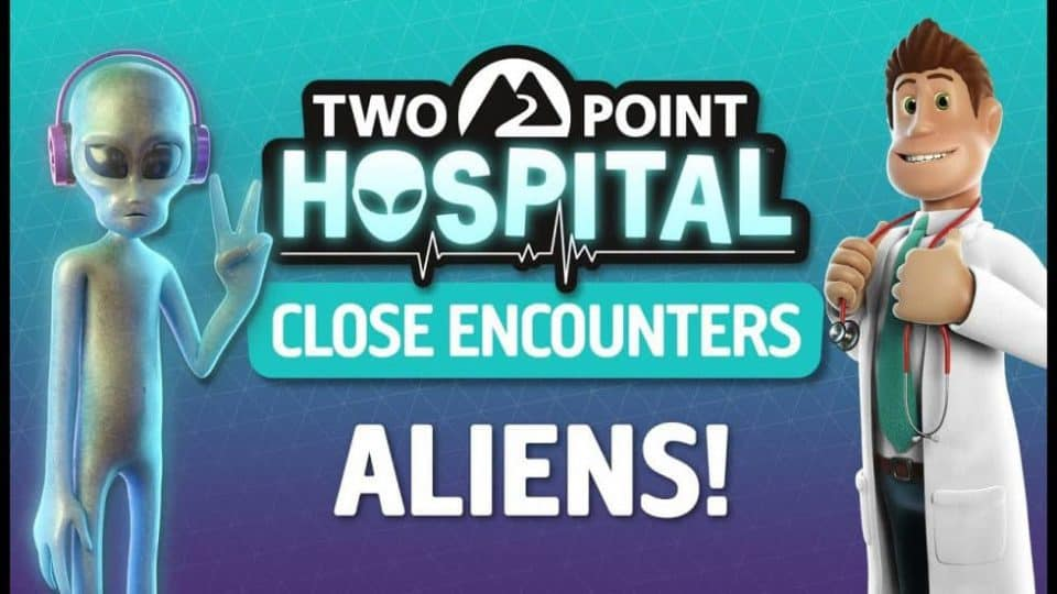 Two Point Hospital neues DLC Close Encounters mit Aliens - unheimliche Begegnungen - Cover Picture