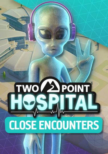 Two Point Hospital neues DLC Close Encounters mit Aliens - unheimliche Begegnungen - Cover Picture vertical