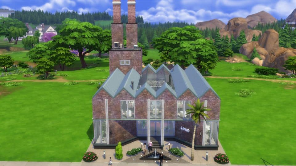Sims 4 Houses Download by Shendragor - Gourmet Mill - mill front