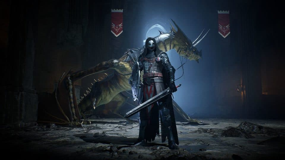 Century Age of Ashes Multiplayer Dragon Fight - Black Knight Dragon Rider with his Combat Dragon