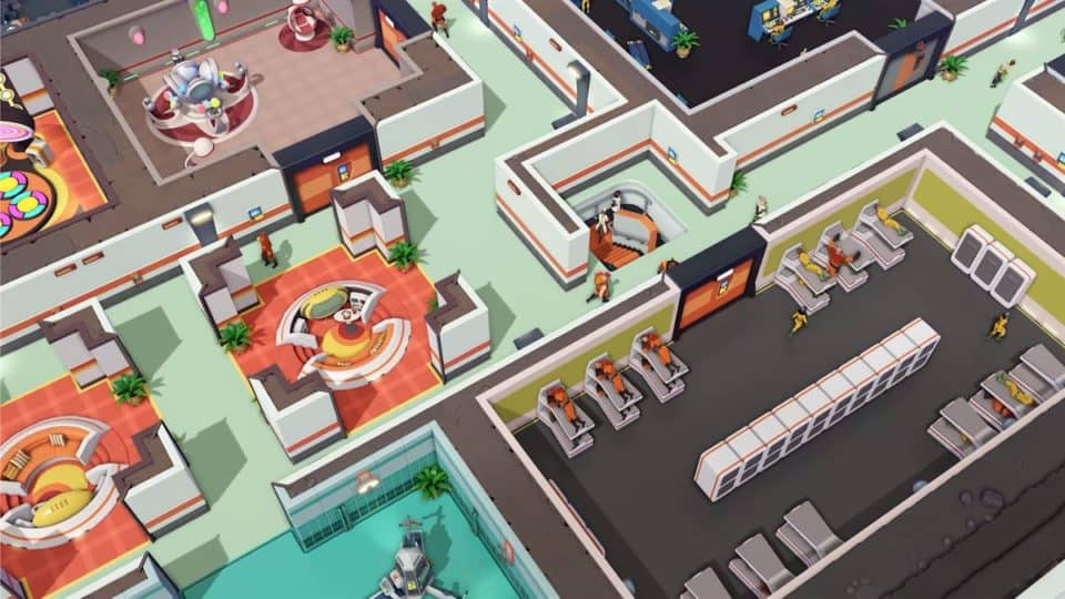 Evil Genius 2 2021 Remake - Release Date, Info, Trailer, Screenshots - restrooms and stairs