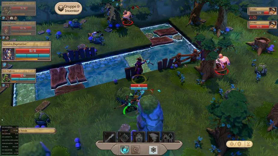 Fort Triumph Review - Test - Fantasy XCOM trifft Heros of MM Water, Walls and other obstacles in Combat