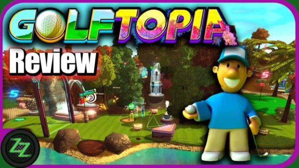 Golftopia Review-Test - SciFi Golfer in bunt - SimGolf or Golf Tycoon