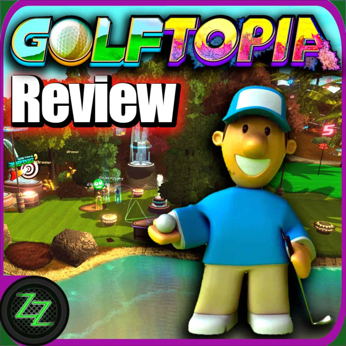 Golftopia Review-Test - SciFi Golfer in bunt - SimGolf or SimTycoon_q