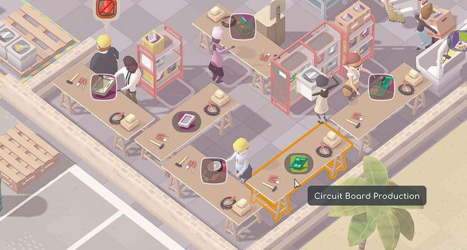 Good Company Review - Test des Factory Tycoon PC Game - Fabrik Nahaufnahme