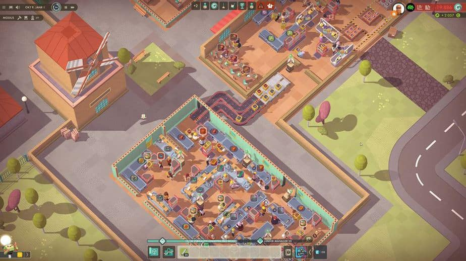 Good Company Review - Test des Factory Tycoon PC Game - Fließband