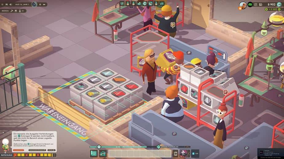 Good Company Review - Test des Factory Tycoon PC Game - Main Character Closeup