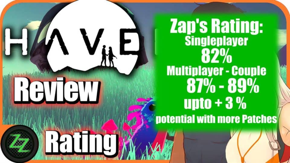 Haven Pc Review Rating with numbers 82-87-89% Wertung mit Zahlen 82-87-89%