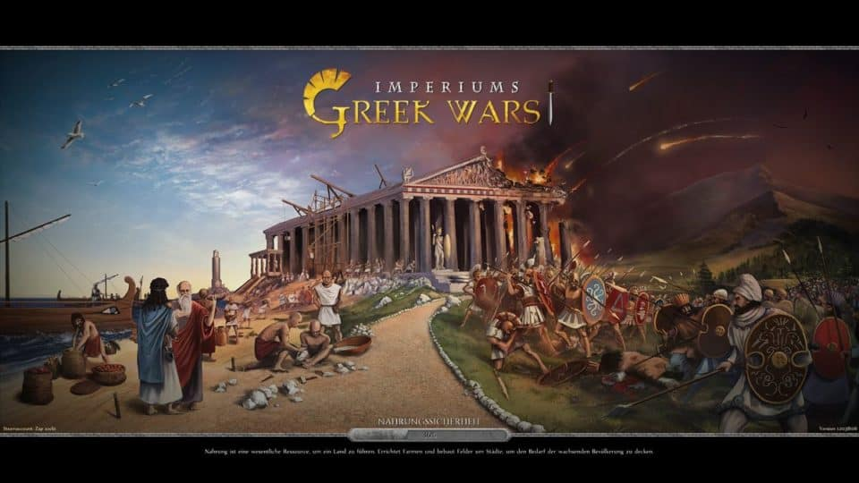 Imperiums Greek Wars Review - Test - 4X Rundenstrategie in der Antike - 4X Turnbased Strategy in ancient Greece - Loading Screen and Cover Title Picture - Ladebildschirm und Titel Bild