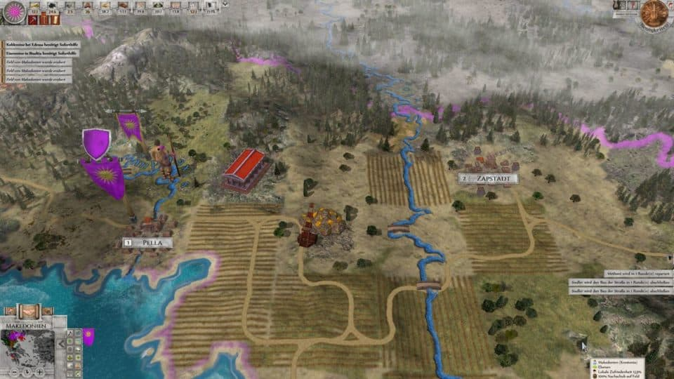 Imperiums Greek Wars Review - Test - 4X Rundenstrategie in der Antike - 4X Turnbased Strategy in ancient Greece - Map View