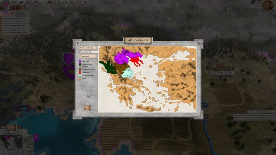 Imperiums Greek Wars Review - Test - 4X Rundenstrategie in der Antike - 4X Turnbased Strategy in ancient Greece - Mission Map - Missions Karte
