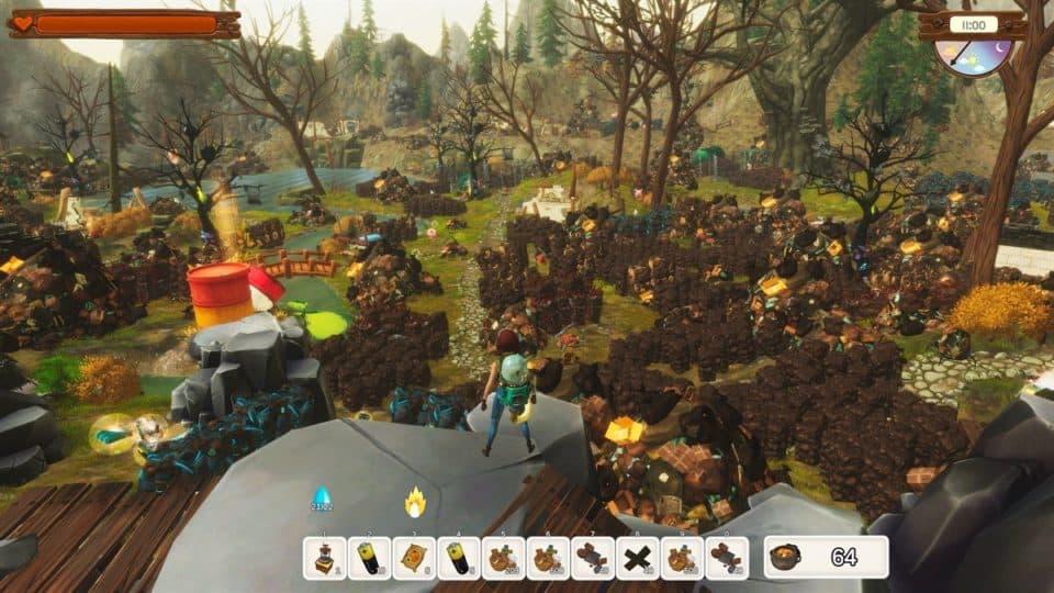No Place Like Home Game Kurz-Review - Test - Rette die Welt vom Müll - Overview area full of waste - Überblick über eine Gegend voll mit Müll