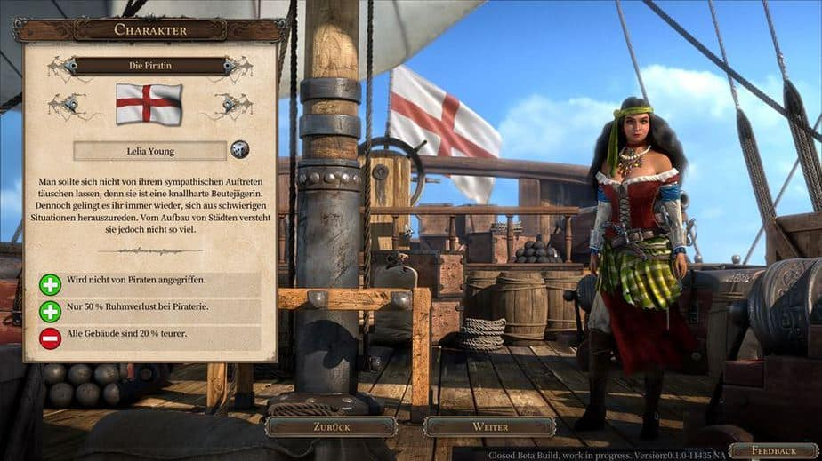 Port Royale 4 Beta Preview - Joho und ne Buddle voll Rum - Character Selection - Charakterauswahl