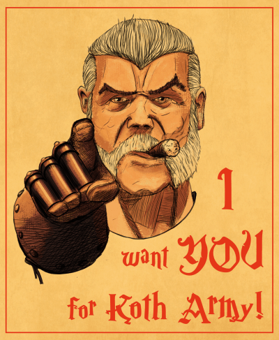 Empires in Ruins Game Review - I Want You for Koth Army Poster
