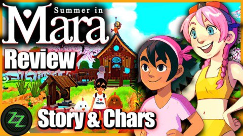 Summer In Mara Review - Test - relaxed Survival Adenture im Anime Style 03 Story und Characters - Geschichte und Charaktere