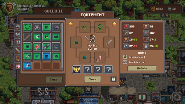 Swag and Sorcery Review - Test - ZapZockt.de - Hero Inventory