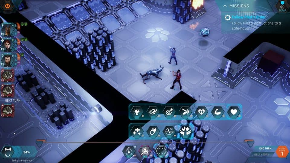 The Protagonist Ex-1 Review - Test - Sci-Fi RPG im Alien-Raumschiff - Angel, Radical and Buddy in Fight - im Kampf
