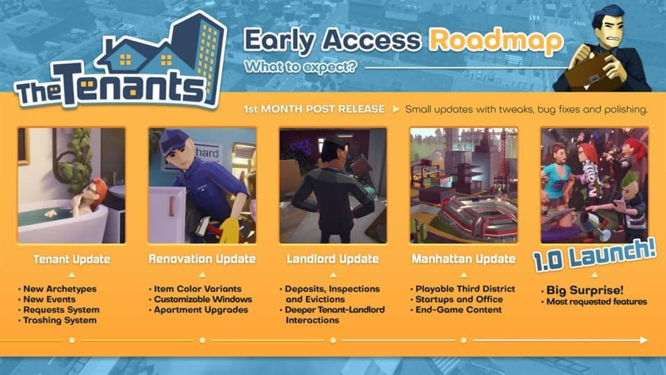 The Tenants Review  early access roadmap