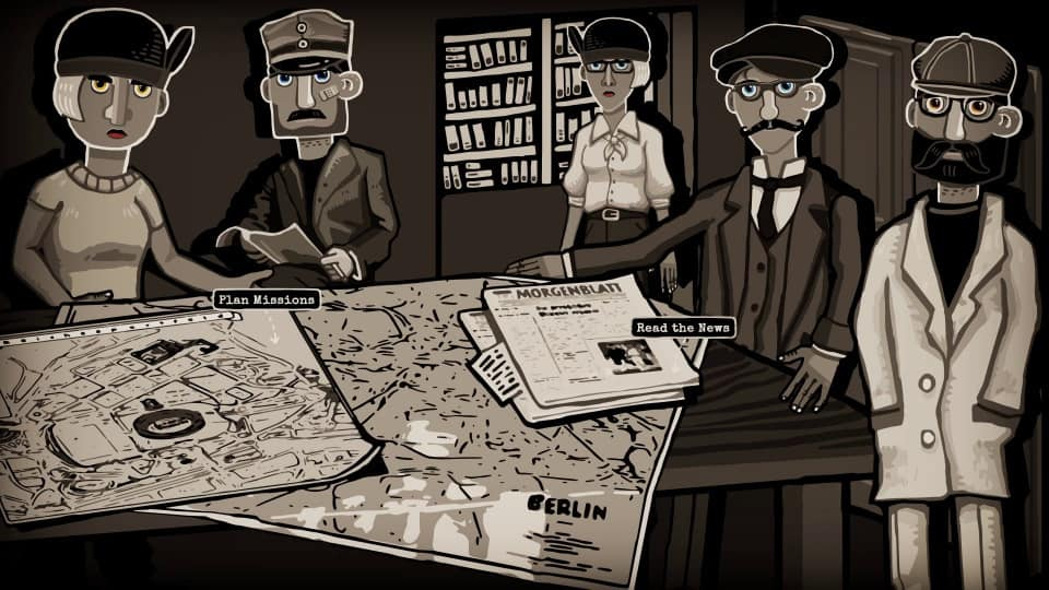 Through The Darkest Of Times Review-Test - Widerstand als Rundenstrategie - Planing Table